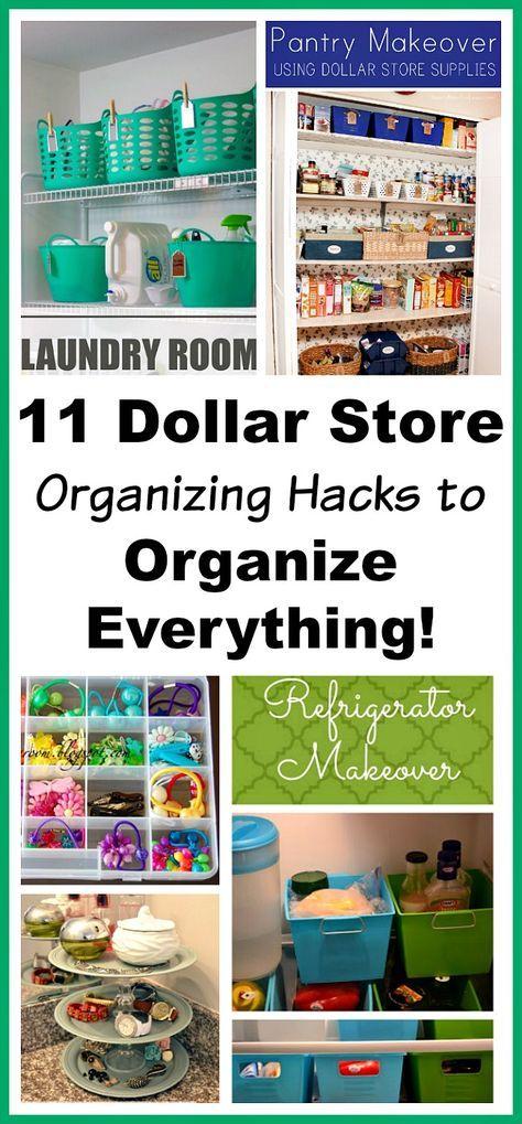 11 Dollar Store Organizing Hacks To Organize Everything