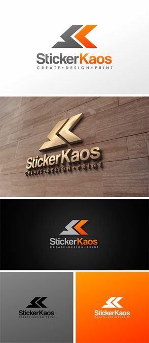 Design a unique logo for a custom sticker printing company, Sticker Kaos! by WestSchool