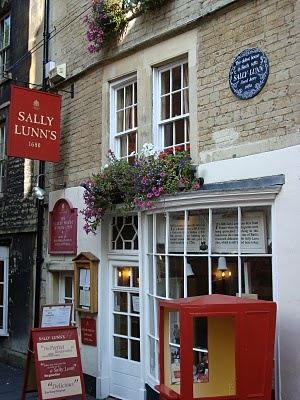 Have a spot of tea at a cute tea room.  Sally Lunn's Tea Room, Bath  England- Some of the great teas found here! Oldest building in Bath