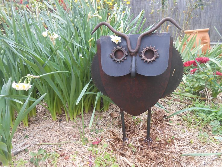 My owl from scrap metal.