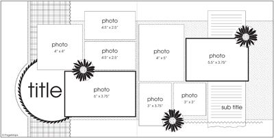 Scrapbook Double Page Layouts Idea | Scrapbooking Layout - Apr double page Challenge — 15 Minute ...