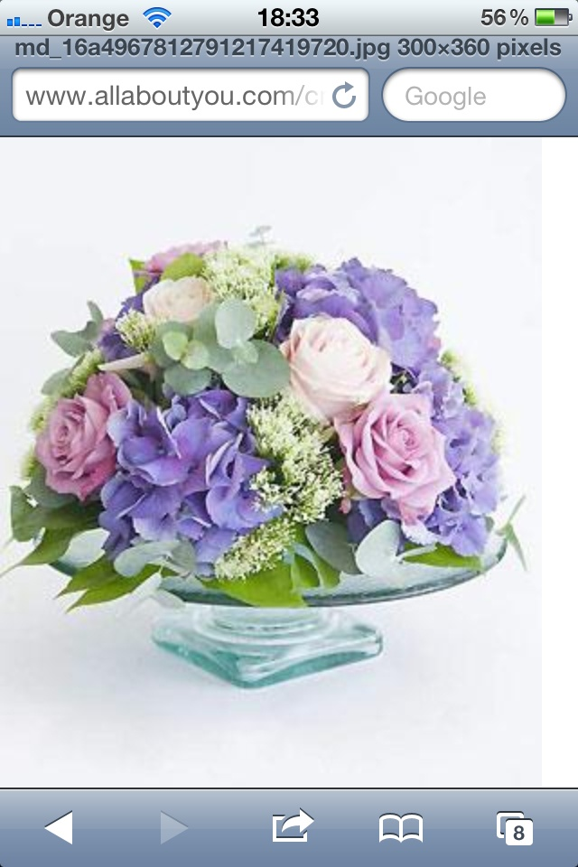 Cake stand centrepiece   Wedding Flowers