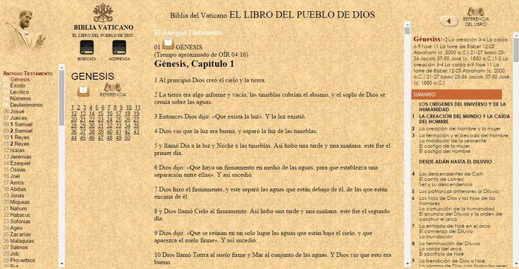 OÍR LA BIBLIA Católica [REFERENCIA DEL LIBRO] ONLINE con EL Vaticano VaticanONLINE desde WWW.CATHOLIC.CF