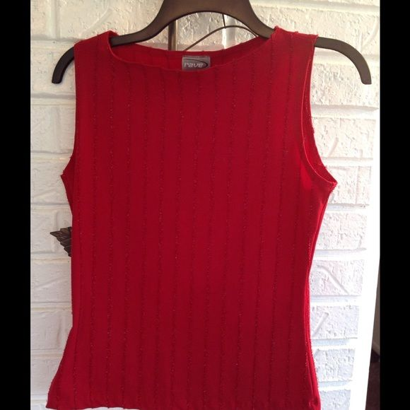 Pretty Rave Top (Reduced) This top is a very pretty stretchy red with shiny fuzzy thread for decoration. It is in great condition. It is 90% Polyester and 10% Spandex for lots of stretch. Rave Tops Tees - Short Sleeve