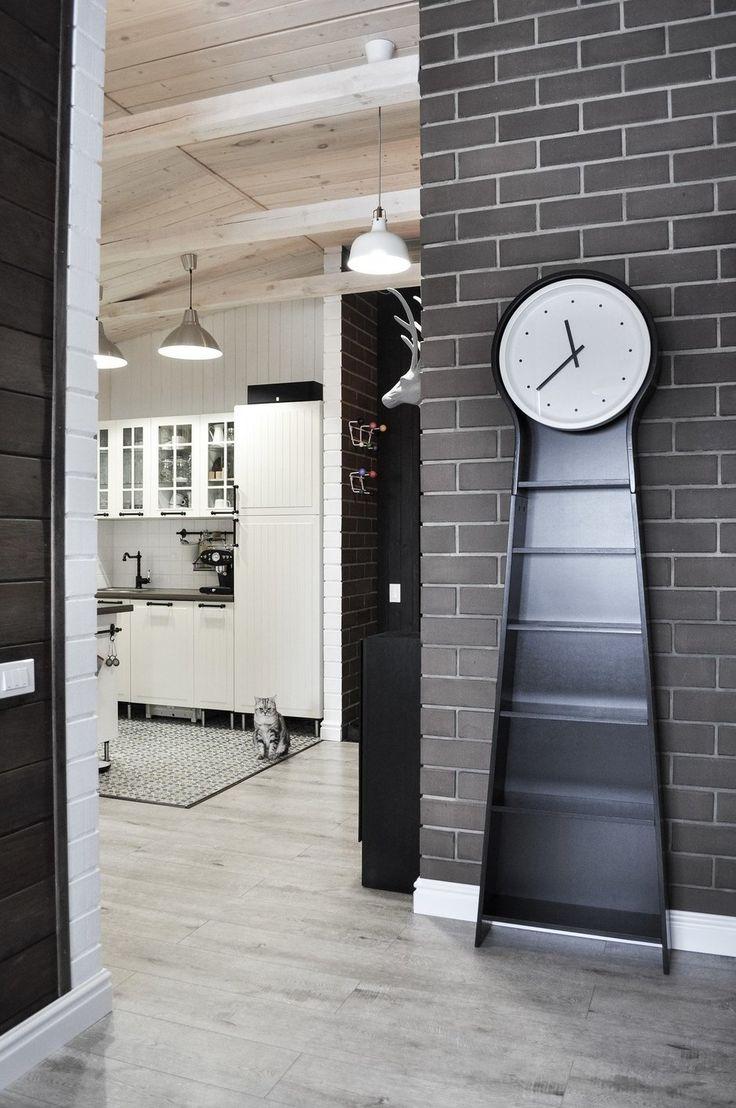 Фотография:  в стиле , Скандинавский, Квартира, Проект недели, Магнитогорск, кухня с островом, вагонка на…