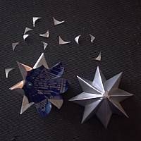 Star  Recycle Aluminum Can Craft Projects