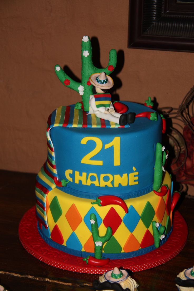 The Mexican theme Birhtday cake by #Jeanette's Cake Creations
