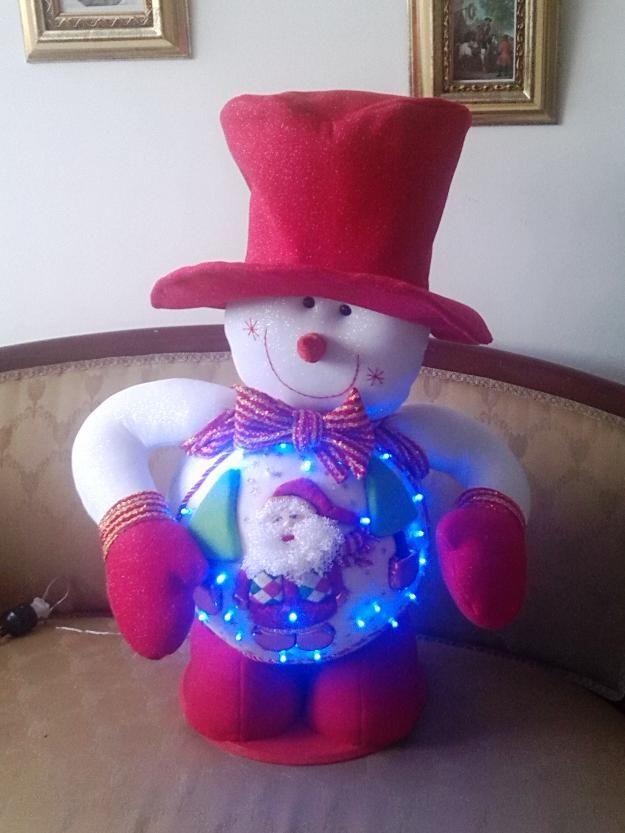 Muñecos de navidad papa noel, muñeco nieve y renos