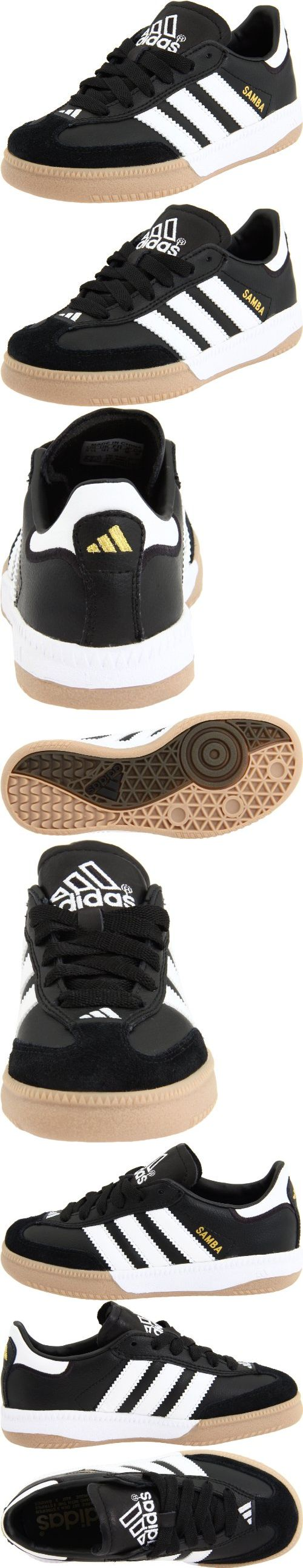 adidas Samba M Leather Soccer Shoe (Little Kid/Big Kid) - The adidas® Samba soccer shoe for kid's features a cupsole and gum rubber outsole, which can be worn to play indoor soccer or as a casual shoe. The arena leather upper and soft leather tongue allow f... - Sneakers - Apparel -