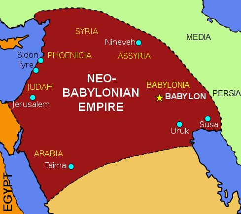 Neo-Babylonian Empire began in ca 626 BC & ended in 539 BC ...