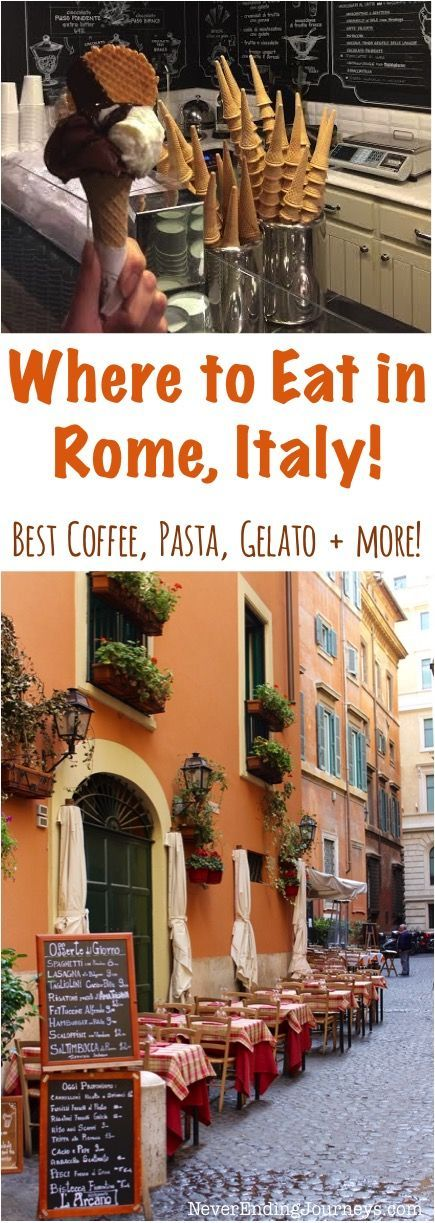 Where to Eat in Rome Italy - Best Coffee, Gelato, Pasta and More! - Tips from NeverEndingJourneys.com