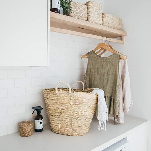 Laundry hanging space for the win! Such a calming space (until there's a truck load of washing in here that is ). Benchtop @cosentino_aust 'Yukon' in suede finish - all details on the journal #LongJettyReno #CosentinoAu #Silestone #SilestoneTopsonTop #CosentinoNZ