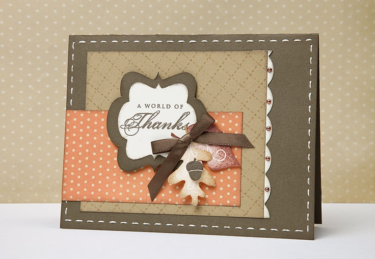 A link to several Thanksgiving card and #scrapbooking ideas from #CTMH.