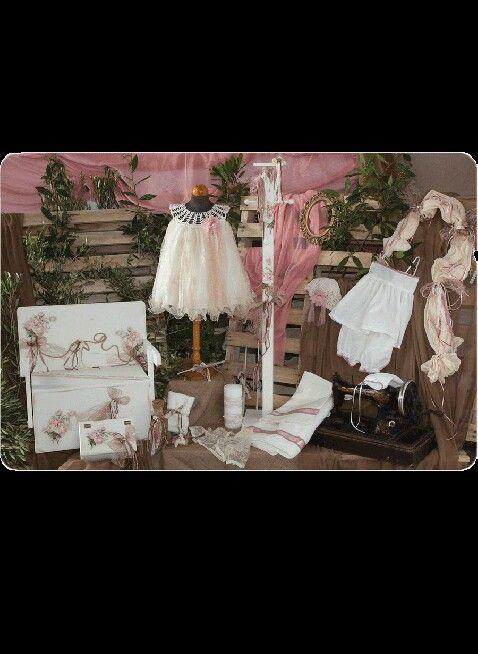 """Vintage πακετο βαπτισης """"λουλουδια"""""""