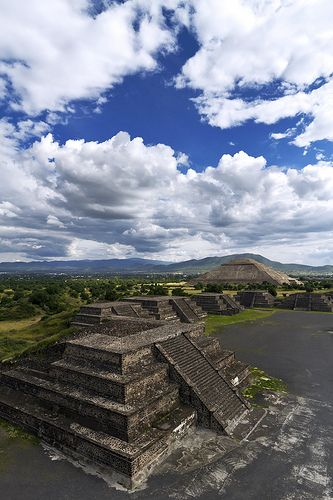 Teotihuacan, 30 miles northeast of Mexico City, Mexico - I climbed the steps of both the Pyramids of the Sun and Moon back in 1984.