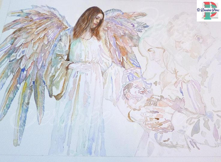 Work in progress, my #nativity #sacrafamiglia #custom #watercolorpainting for my next #artexhibition for #christmas #wings #angel #girl #art #woman #watercolor #handpainted #portrait #illustration #acquerello #ritratto #personalizzato #natale #instagood #bestoftheday #colors  #family #baby #newborn #beautiful #cute #watercolorartists #jesus . Dessirèe Pèrez all rights reserved