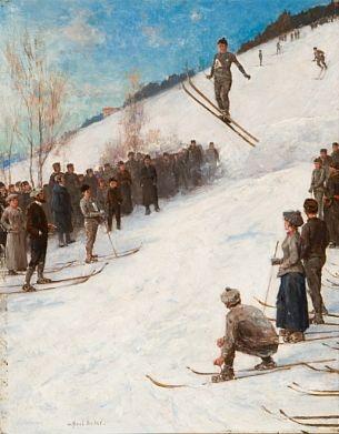 Axel Hjalmar Ender (1853-1920): Skirenn