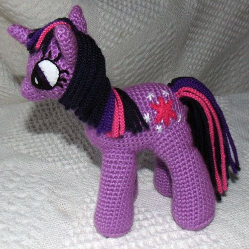 DIY My Little Pony Twilight Sparkle crochet stuffed animal.