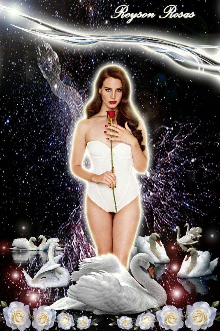 Reyson Rosas - Lana Del Rey   Según la Mitología Clásica, Zeus/Júpiter (Dios de los Cielos), se transformó en Cisne para seducir a la mortal Leda, de cuya unión nació la bellísima Helena de Troya. Era una de las aves consagradas a Apolo por su canto, simbolizando la música y a Afrodita, cuyo carro estaba tirado por un par de Cisnes, por la belleza y por su analogía con el falo alado, ya que simbolizaba su papel de deidad que preside la sexualidad humana. — en San Cristóbal con Lana Del Rey