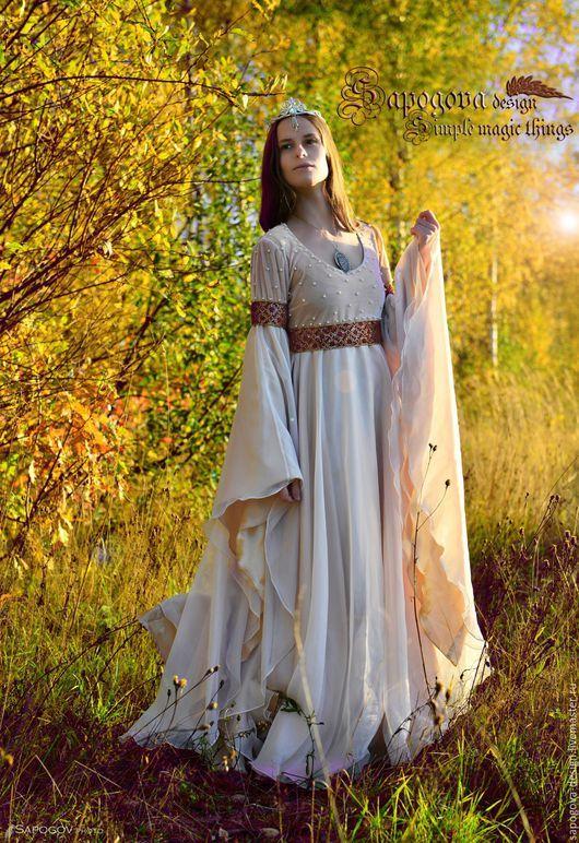 Алина Сапогова.Волшебное свадебное платье `Королева Элис` Свадебное платье в стиле фэнтези,свадебное платье ренессанс, платье для эльфийской невесты.