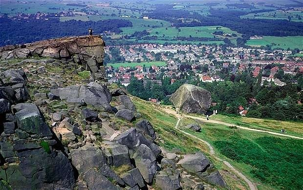 Cow and Calf rocks above Ilkley