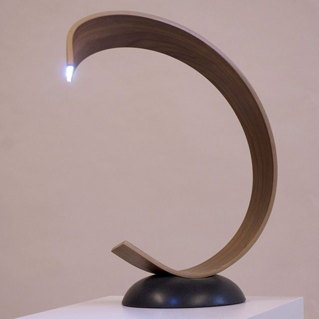 mobius desk lamp joachim king wooden lighting