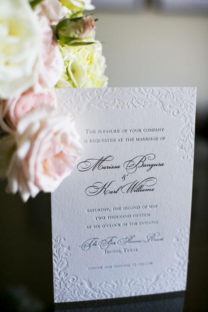 Letterpress Invitations by Cotton Paperie Dallas