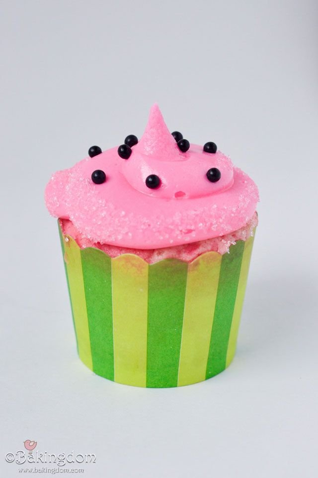Watermelon cupcake recipe... : )