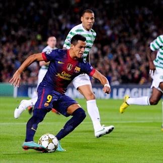 Alexis Sánchez, FC Barcelona. | FC Barcelona 2-1 Celtic. 23.10.12.
