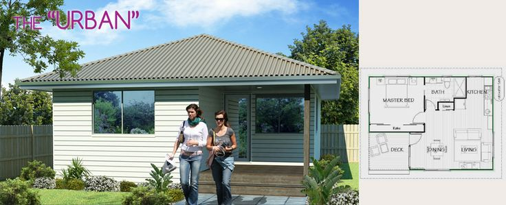 The Urban by Lifestyle Granny Flats is a modern #grannyflat design with all the features of a small house.