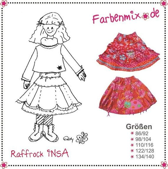 Farbenmix INSA Skirt Boutique Sewing Pattern by MyPatternPlace, $14.00