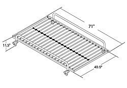 DHP Separate Trundle for DHP Metal Daybed Frame, Silver