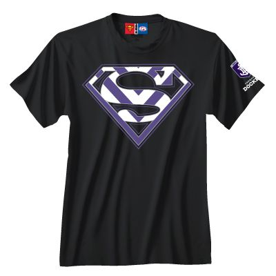 Fremantle Dockers Mens Superman Tee $40