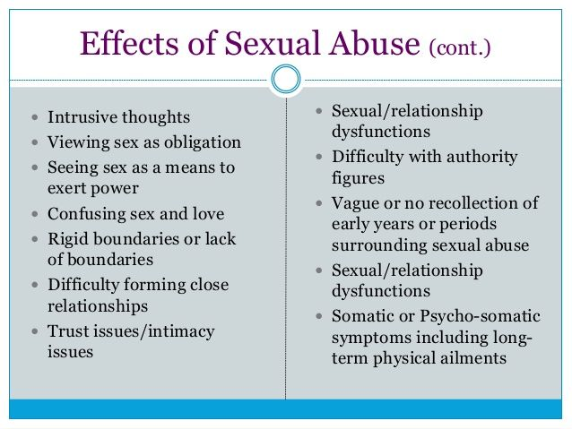 abuse affect how adults sexual does