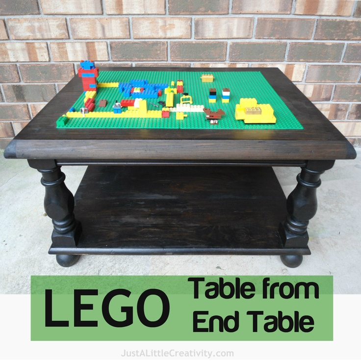 Just a little Creativity: Make a LEGO Table from an Old End Table {DIY}