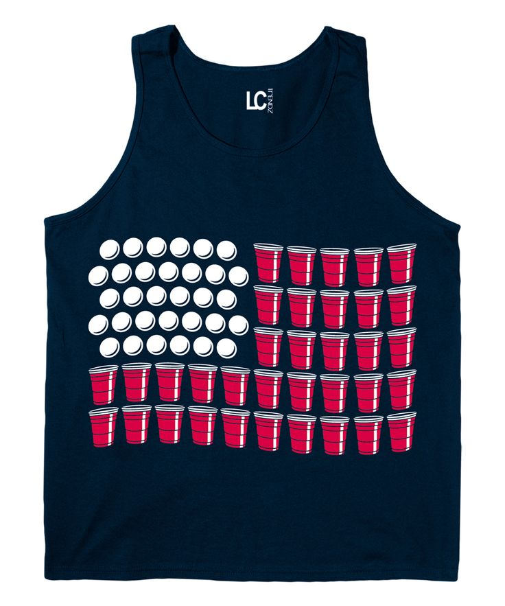 Navy Flag Beer Pong Tank - Men's Regular