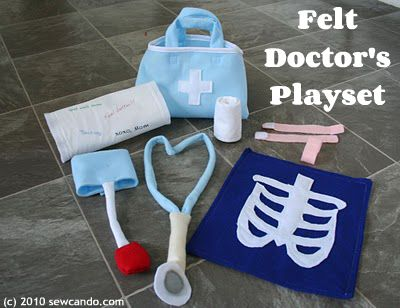 Felt Doctor's Playset by Sew Can Do