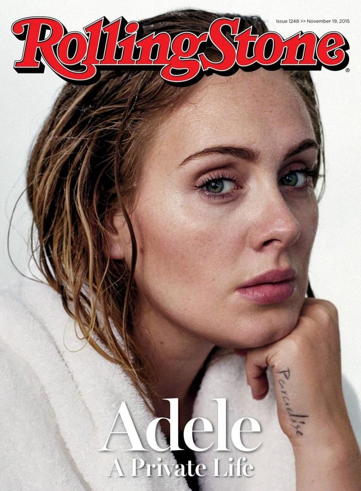 Adele Rolling Stone How gorgeous is she... I love the vulnerability in this photograph
