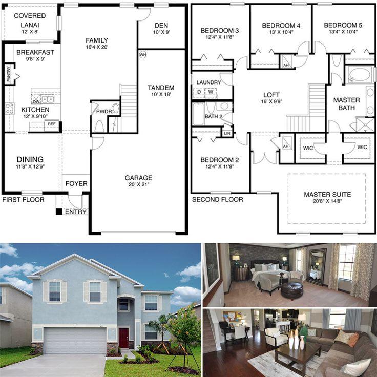 Laurel new home plan in treviso bay classic homes tandem for 3 car tandem garage house plans
