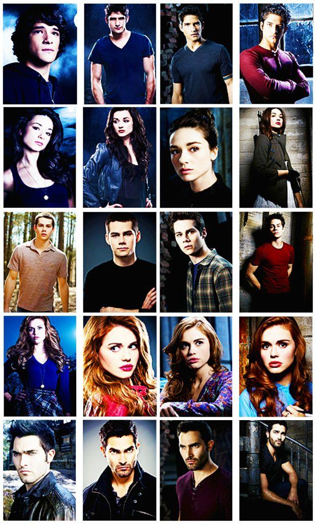 Scott, Allison, Stiles, Lydia, Derek. season 1,2,3 and 4