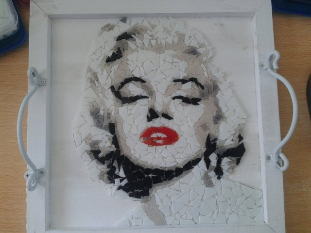 Marilyn Monroe mosaic. Not completely finished yet..