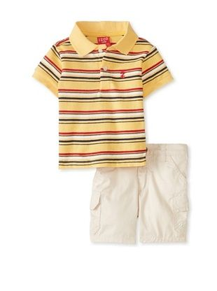 61% OFF Izod Kid's Newborn 2-Piece Short Set (Yellow)