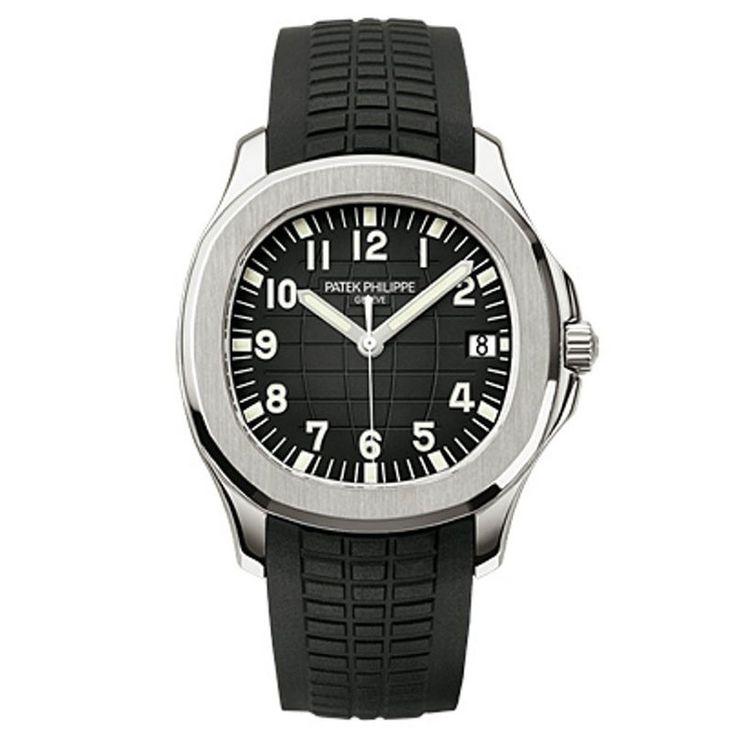 Patek Philippe Aquanaut Black Dial Rubber Strap Automatic Watch 5167A-001