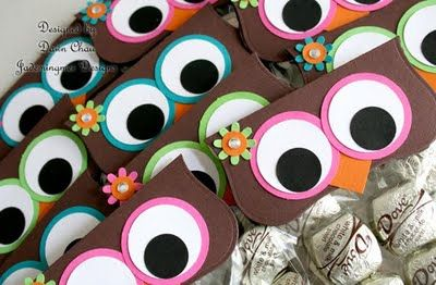 Owl Treat Toppers // Owls seem to be the classroom theme for Maddie's room this year!