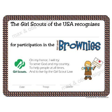 scout certificates template - 83 best images about girl scouts brownie bridging