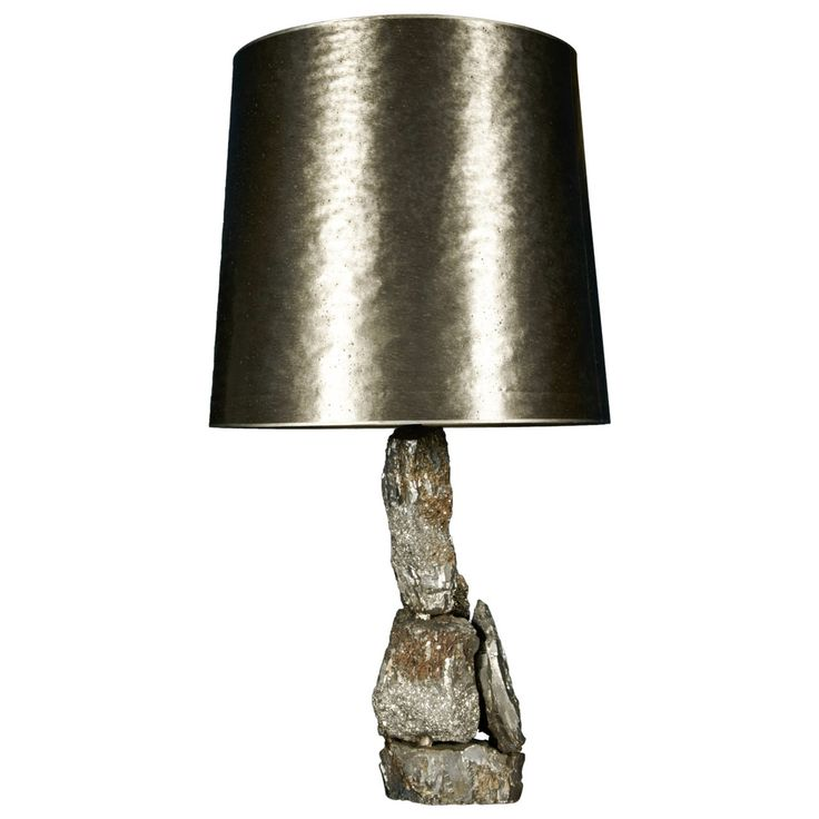 Lamp pyrite | From a unique collection of antique and modern table lamps at http://www.1stdibs.com/furniture/lighting/table-lamps/