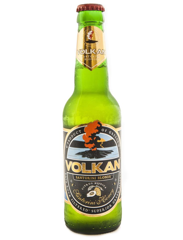VOLKAN SANTORINI BLONDE TYPE OF BEER: blonde pilsner PRODUCT DESCRIPTION: The flagship of our brewery inspired by the sunny days of our island with golden colour and rich foam concentrate