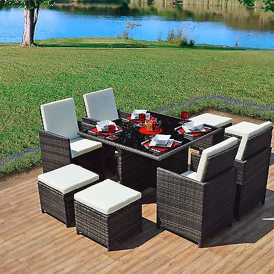 Cool  Mixed grey rattan dining cube table set seater garden conservatory furniture