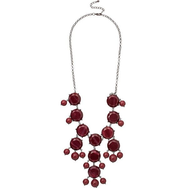 Biking Red Bubble Statement Necklace (58 BRL) ❤ liked on Polyvore featuring jewelry, necklaces, beaded statement necklace, red jewelry, red jewellery, red bubble necklace and beading necklaces