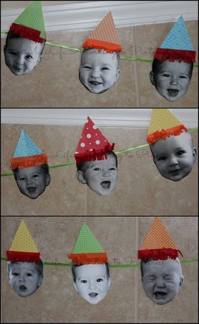 Cute Circus theme 1st Birthday! This would be cute to do all of finn's first year pictures